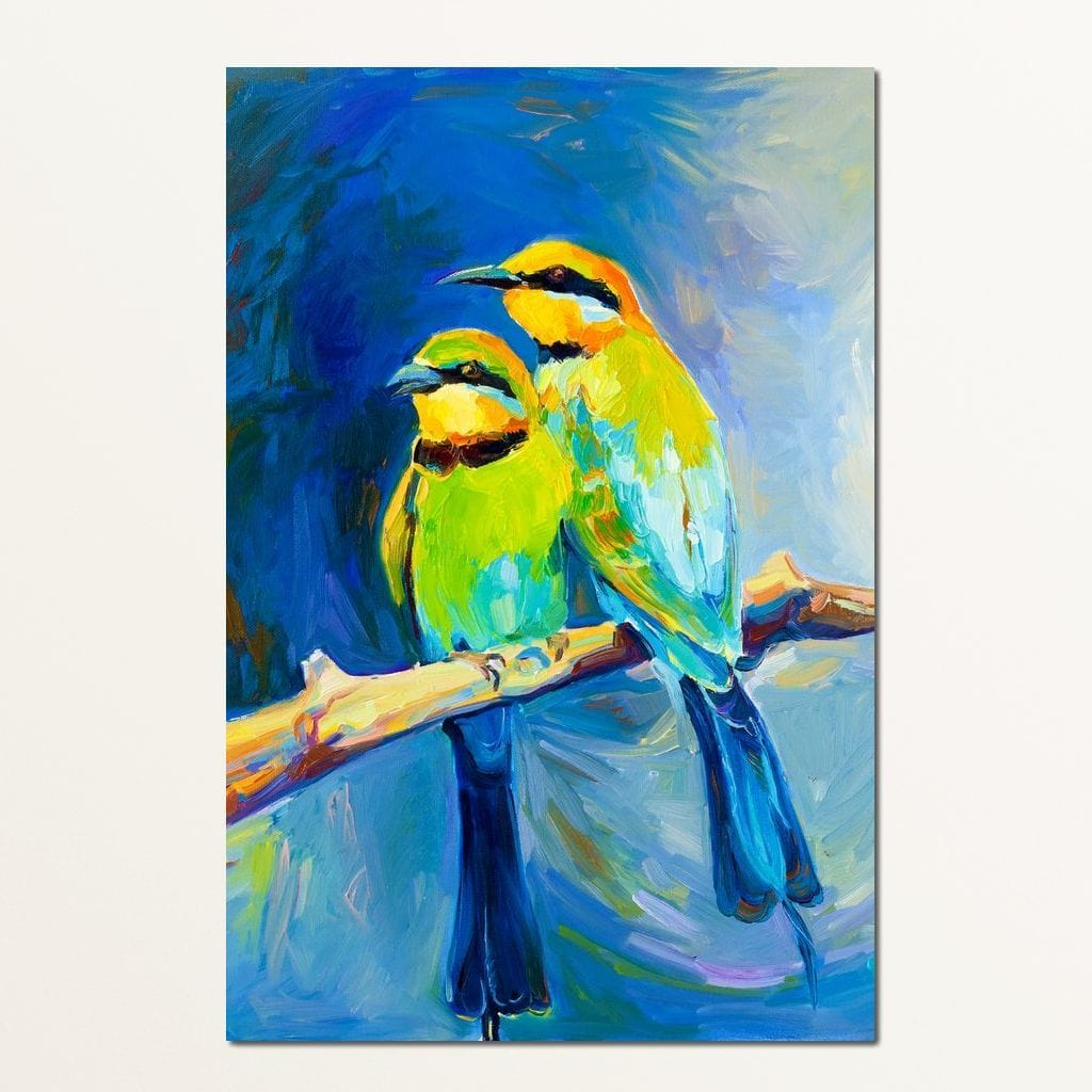 Blue Tailed Bee Eaters Small Canvas