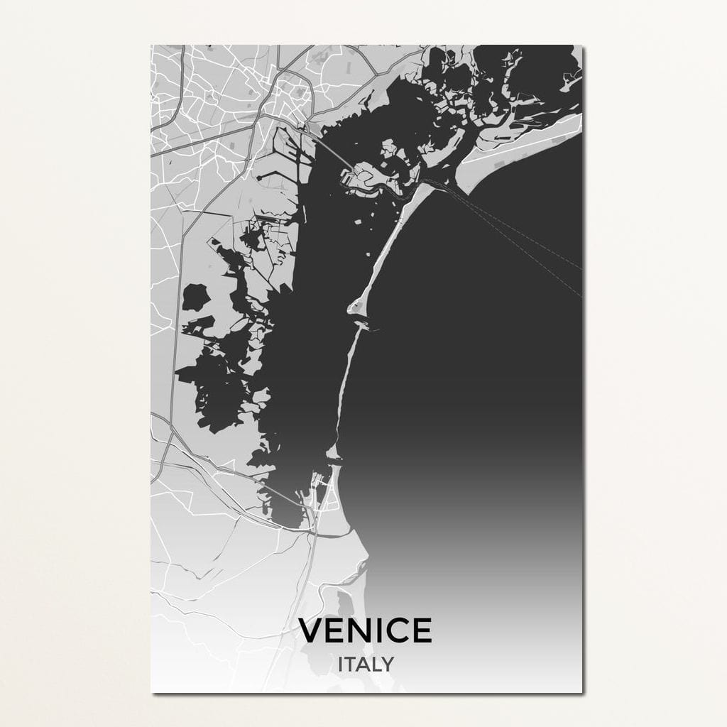 Map of Venice, Italy Multi Panel Canvas Wall Art - NicheCanvas