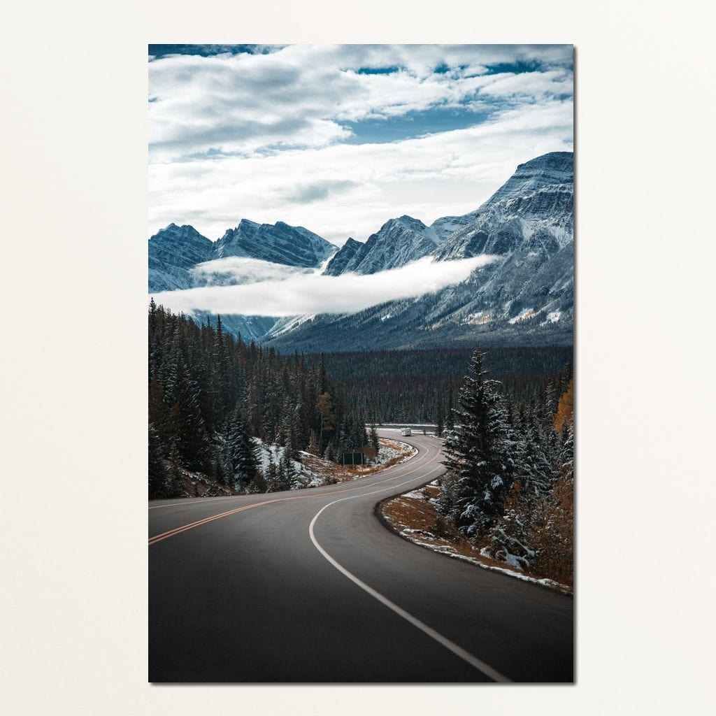 Snowy Drive - Lucas Moore Small Canvas