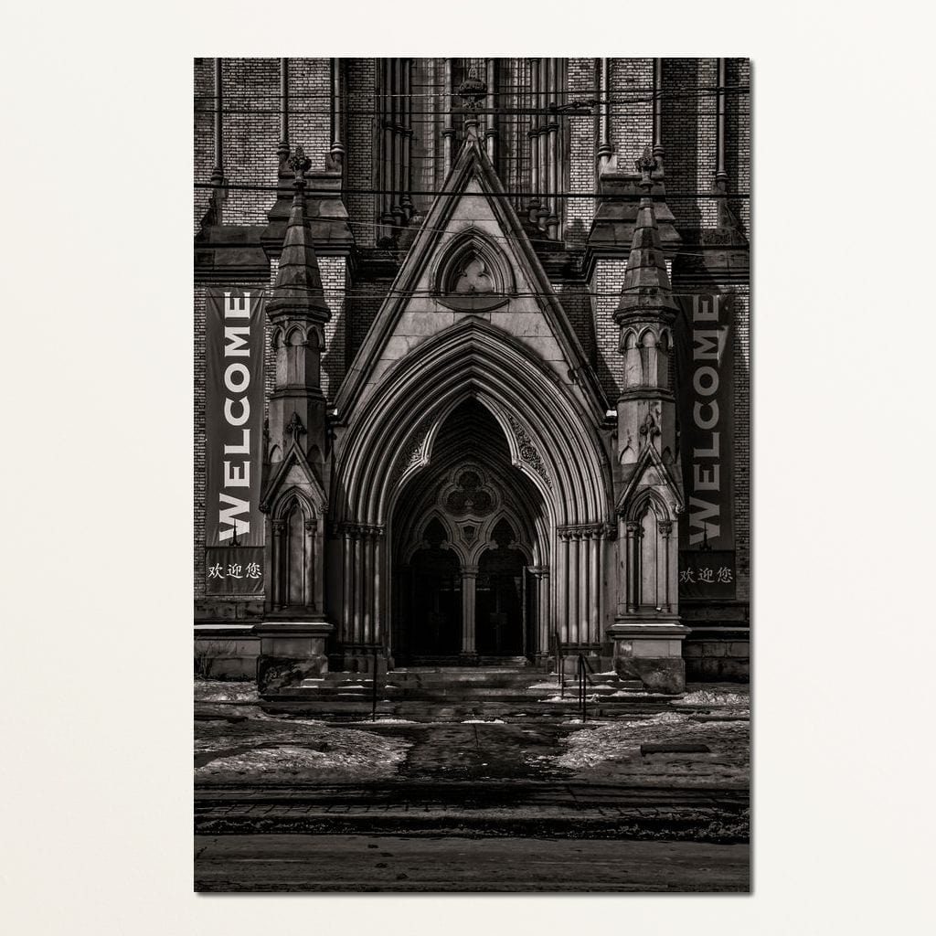 Metropolitan United Church Entrance - Brian Carson Multi Panel Canvas Wall Art - NicheCanvas