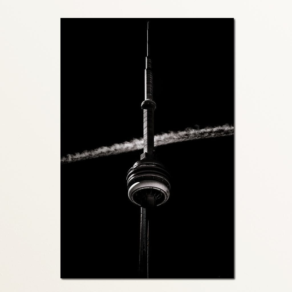 CN Tower Cloud - Brian Carson Multi Panel Canvas Wall Art - NicheCanvas