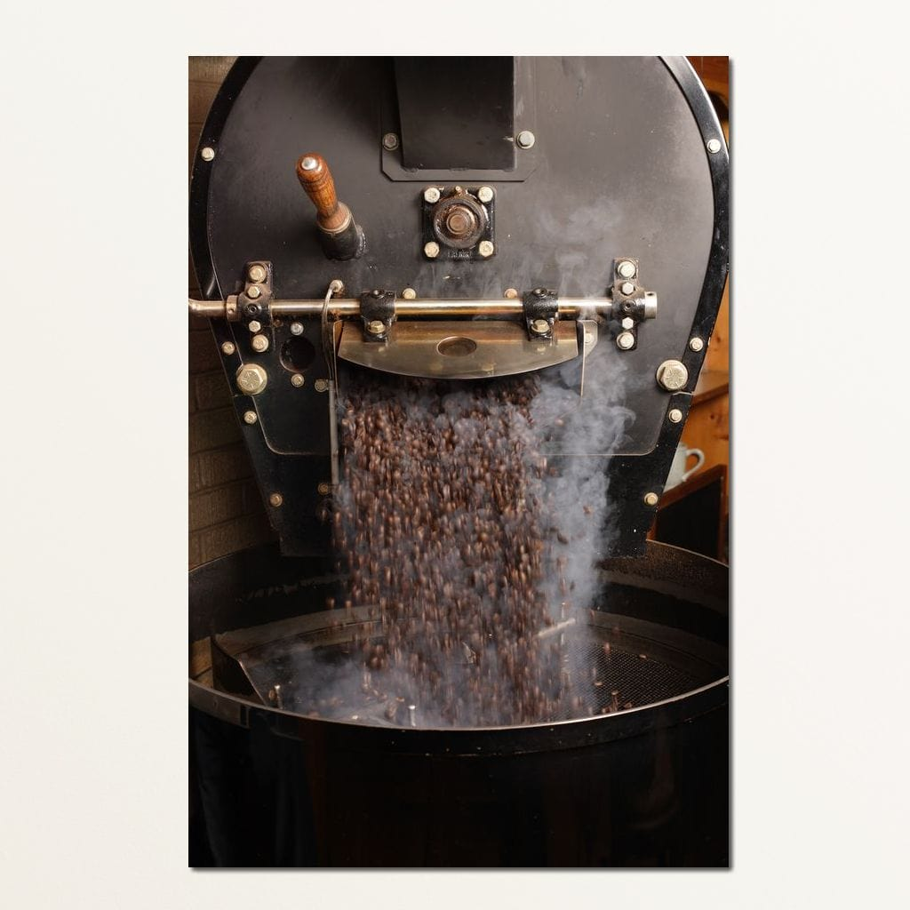 Freshly Roasted Coffee Beans Multi Panel Canvas Wall Art - NicheCanvas