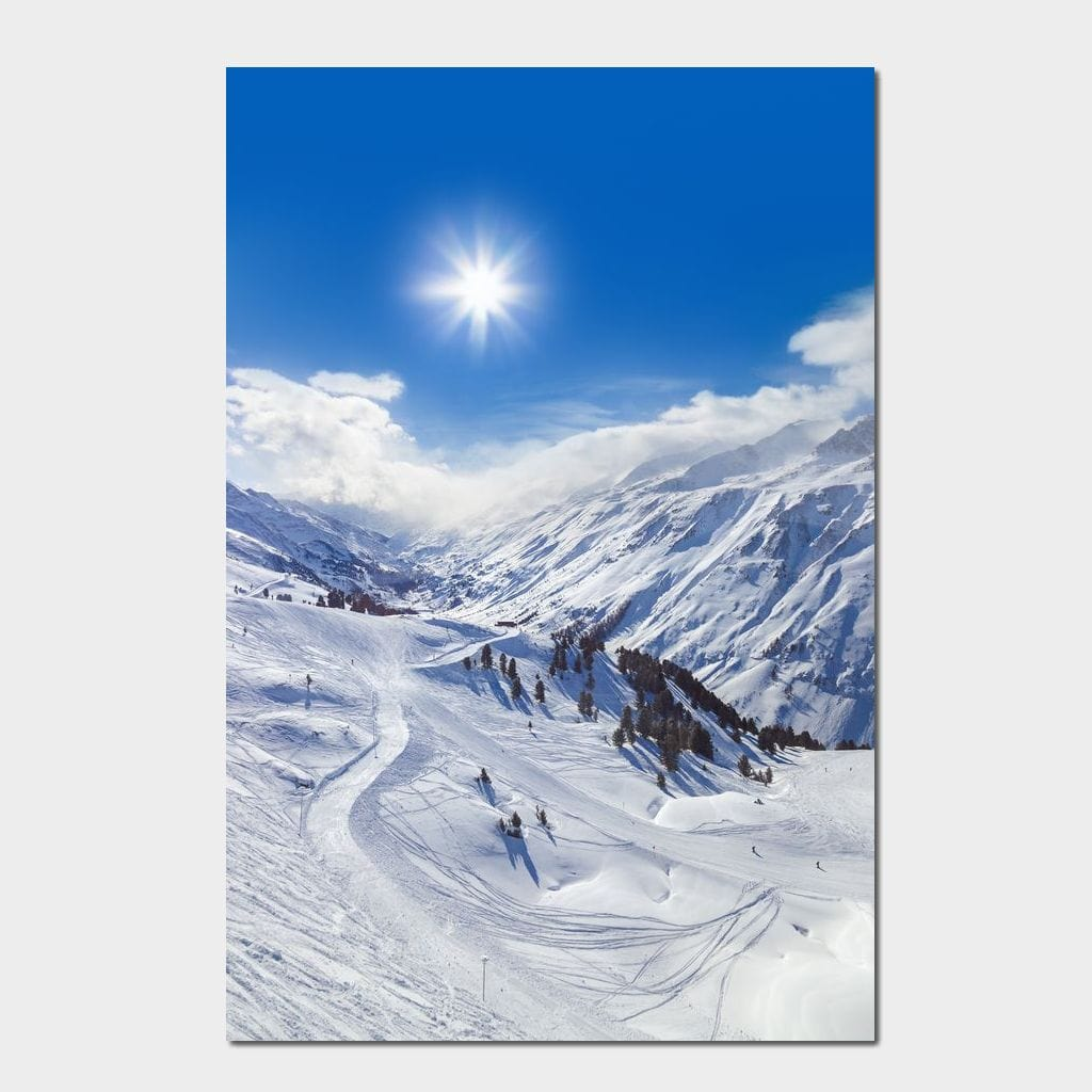 Ski Resort Multi Panel Canvas Wall Art - NicheCanvas