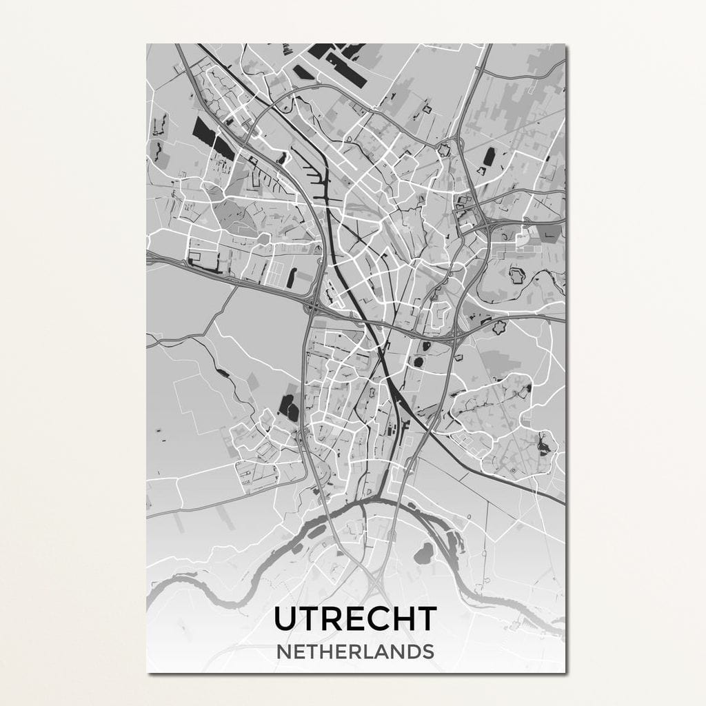 Map of Utrecht, Netherlands Multi Panel Canvas Wall Art - NicheCanvas