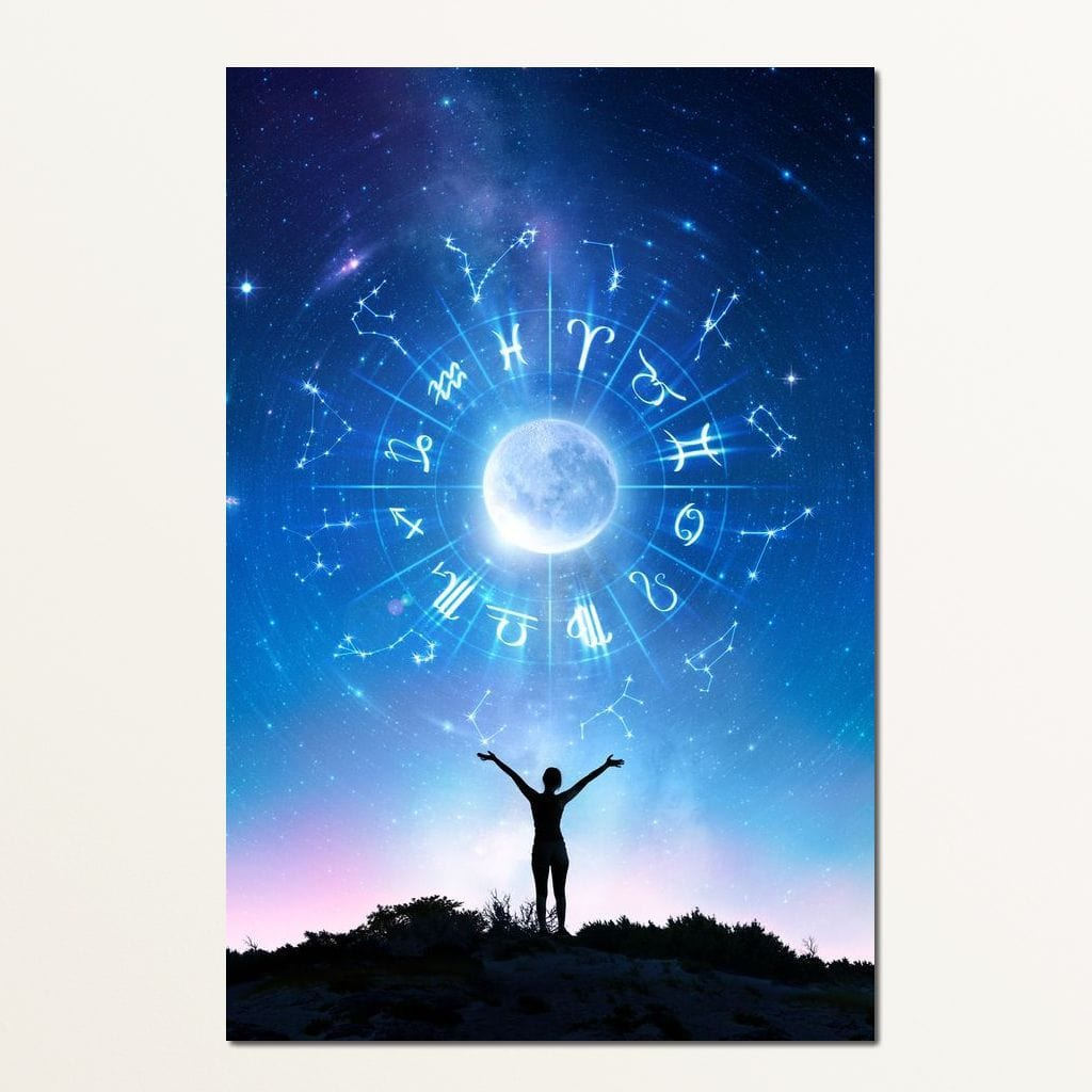 Zodiac Signs In The Sky - NicheCanvas