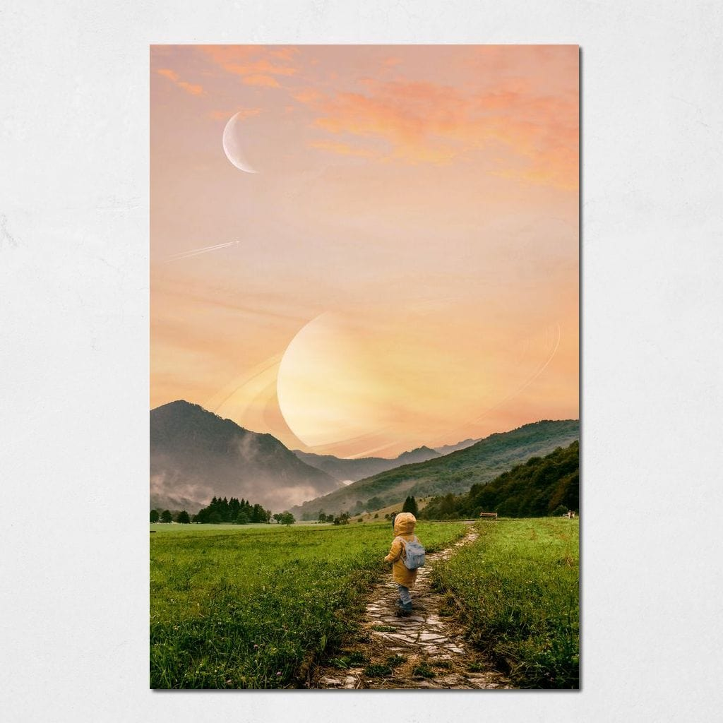 Saturn Sunset - Aaron Larson - NicheCanvas