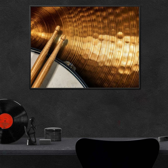 Percussionist Multi Panel Canvas Wall Art - NicheCanvas