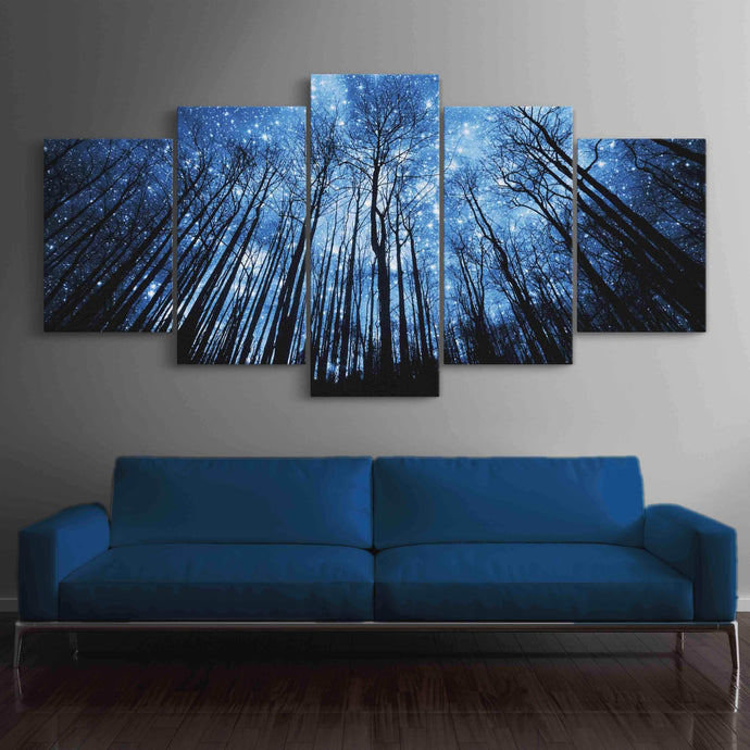 Forest Of Stars Multi Panel Canvas Wall Art - NicheCanvas