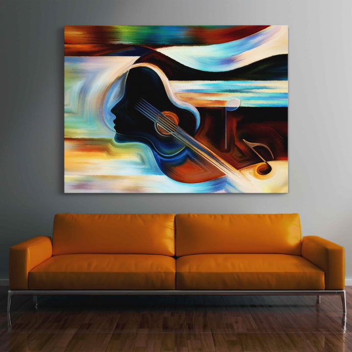 Musical Mind Multi Panel Canvas Wall Art - NicheCanvas