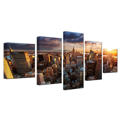 New York City Sunset - NicheCanvas