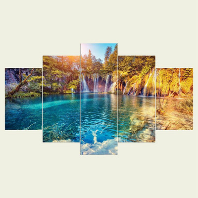 Waterfall Paradise - NicheCanvas