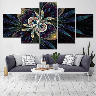 Symmetrical Digital Flower - NicheCanvas