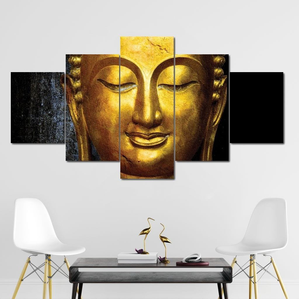 Awakened Buddha Multi Panel Canvas Wall Art - NicheCanvas