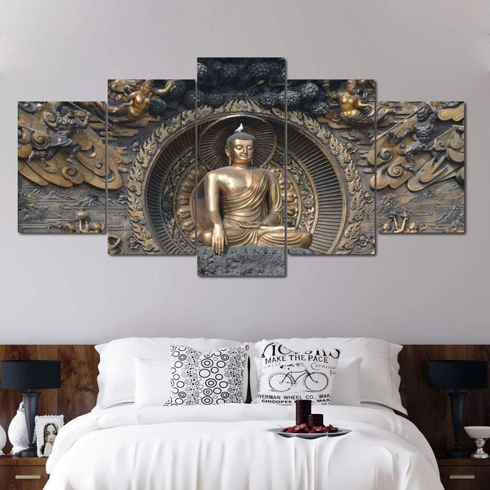 Gautama Buddha Multi Panel Canvas Wall Art - NicheCanvas