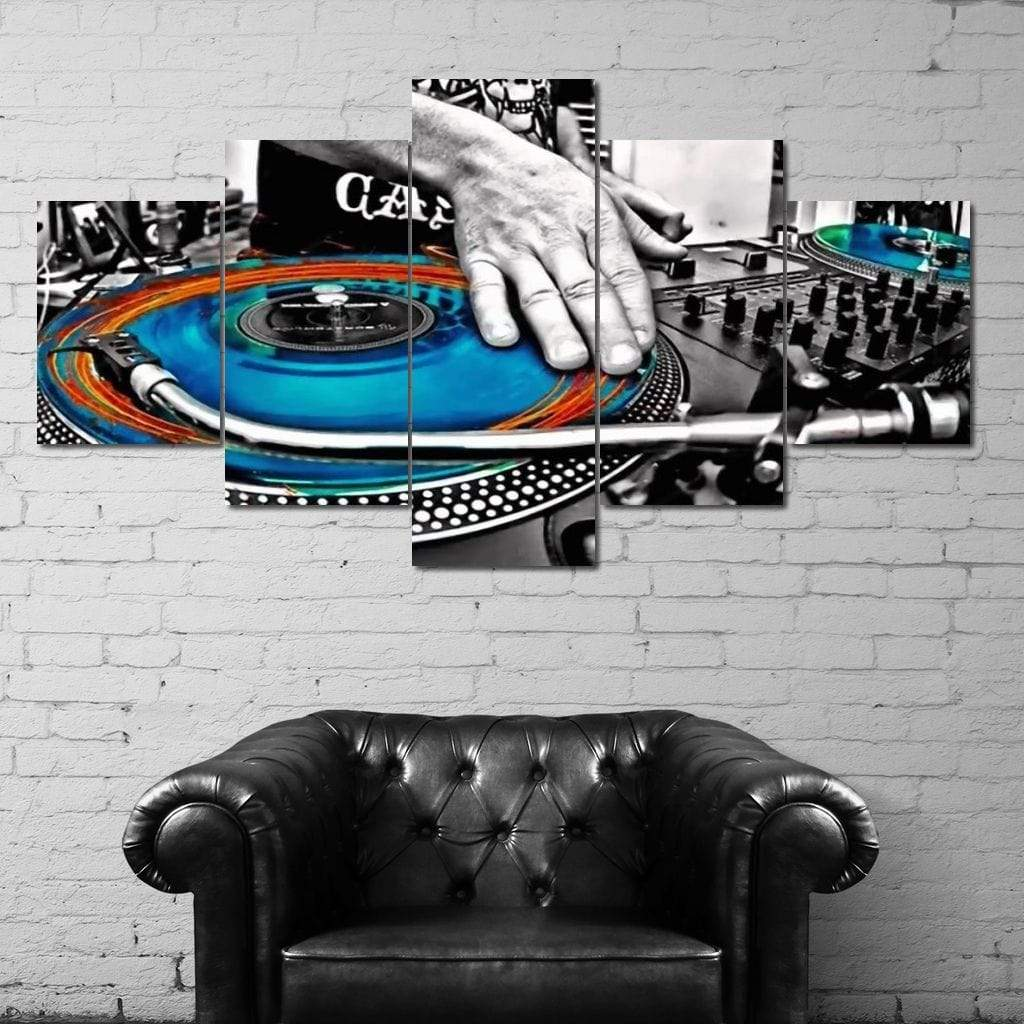 DJ Colors Multi Panel Canvas Wall Art - NicheCanvas