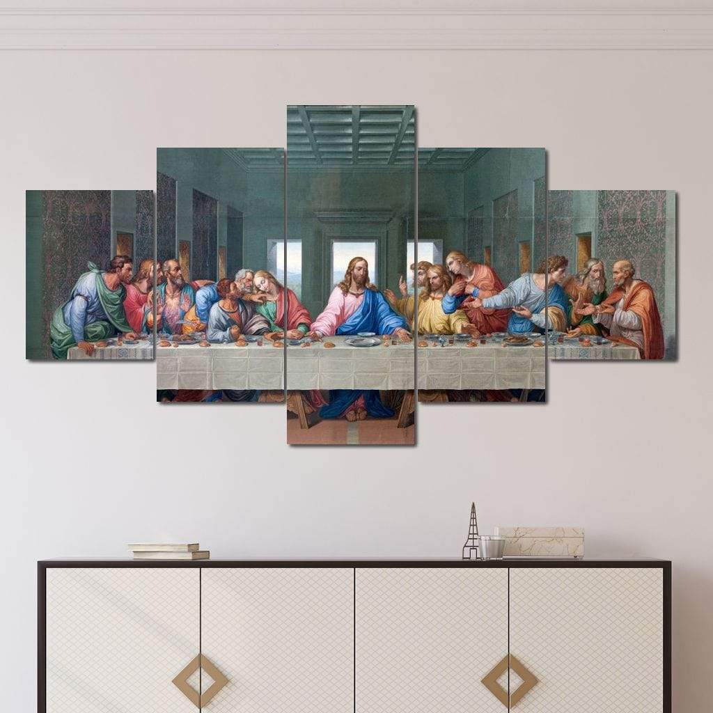 The Last Supper Multi Panel Canvas Wall Art - NicheCanvas