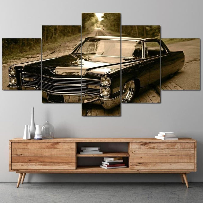 The Low Rider Multi Panel Canvas Wall Art - NicheCanvas