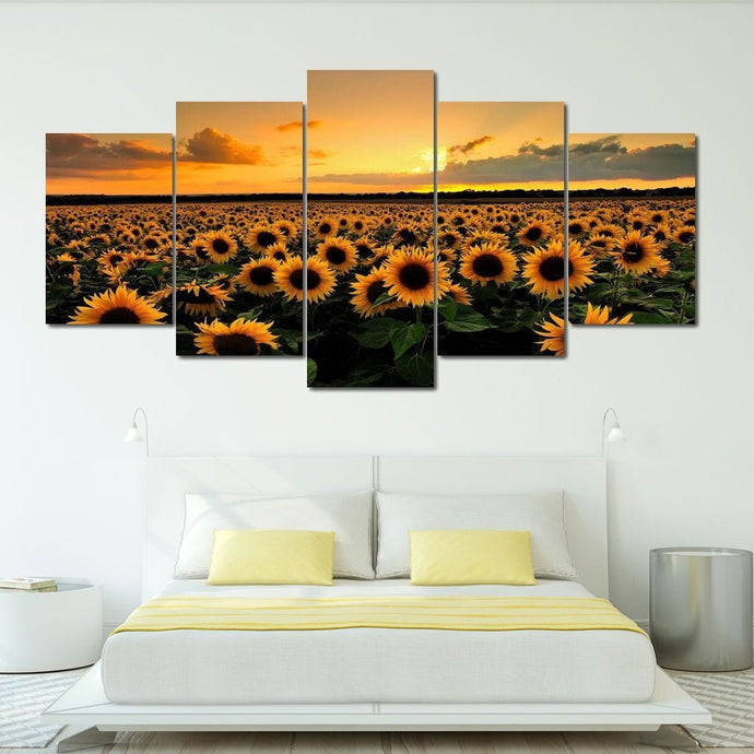 Sunflower Field - NicheCanvas