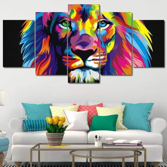 Be The Lion Multi Panel Canvas Wall Art - NicheCanvas
