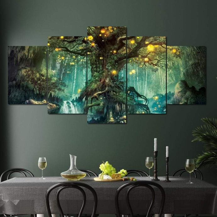 Nature Spirits Multi Panel Canvas Wall Art - NicheCanvas