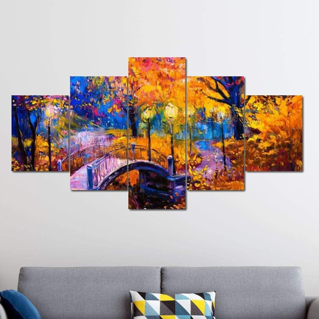 Autumn Pastel Multi Panel Canvas Wall Art - NicheCanvas