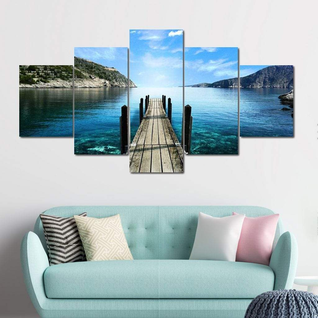 Day at the Lake Multi Panel Canvas Wall Art - NicheCanvas