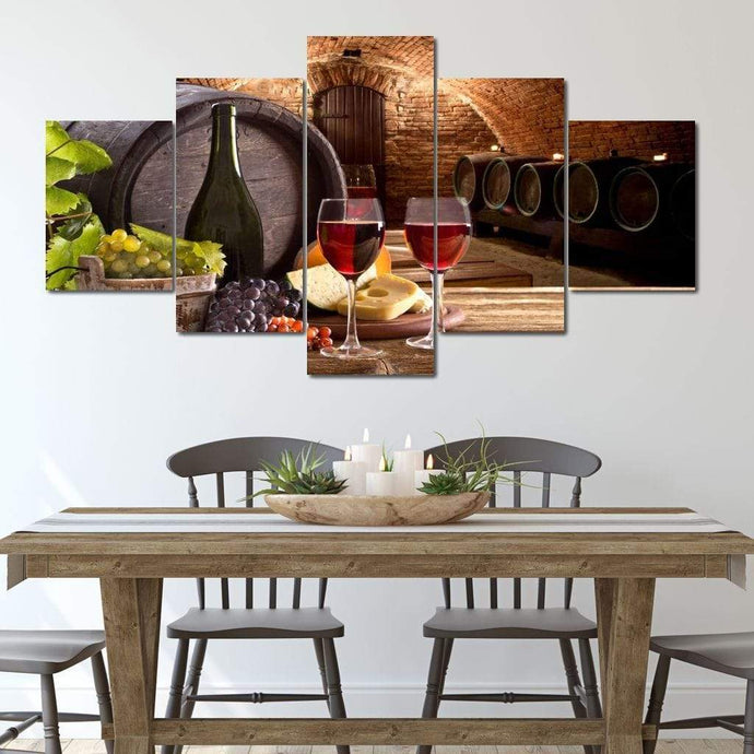 Limited Edition - Wine Wall Art 24 Multi Panel Canvas Wall Art - NicheCanvas