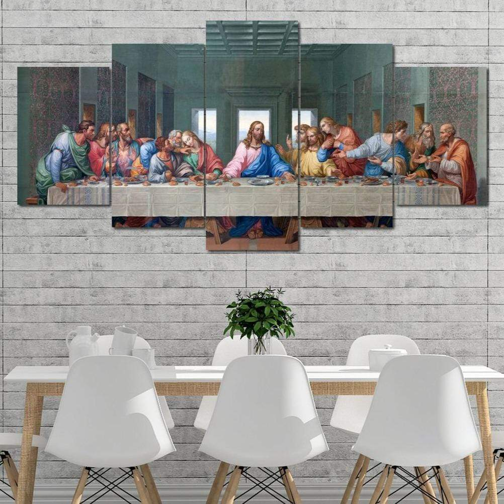The Supper Assembly God 5 panel wall art canvas