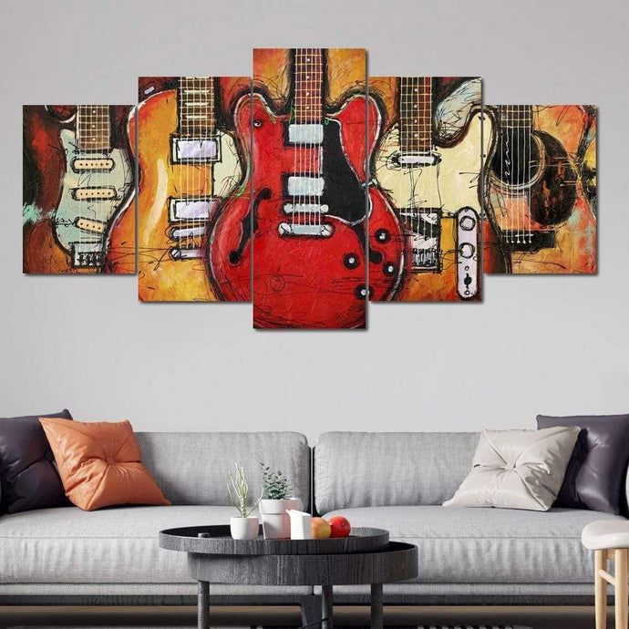 Epic Guitars - Limited Edition Multi Panel Canvas Wall Art - NicheCanvas