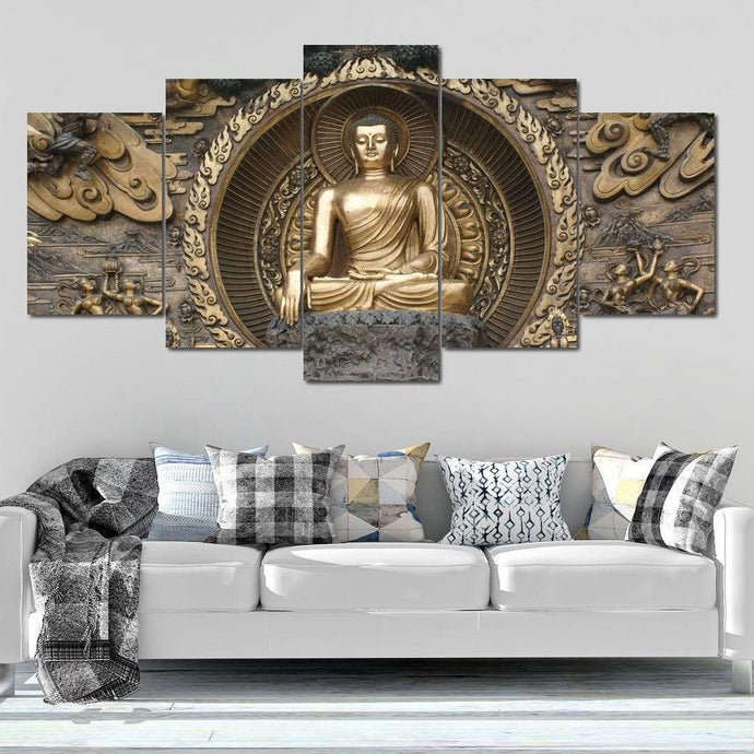 The Buddha Multi Panel Canvas Wall Art - NicheCanvas