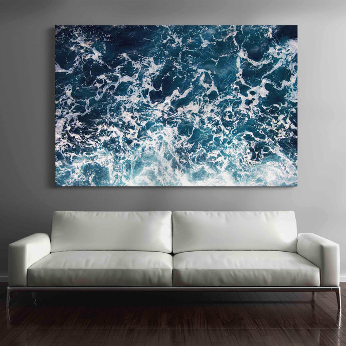Waves Multi Panel Canvas Wall Art - NicheCanvas