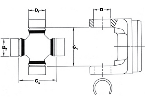 U-joint Diagram