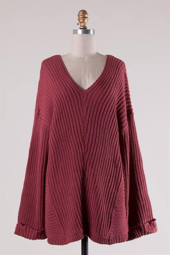 Tara Sweater in Wine