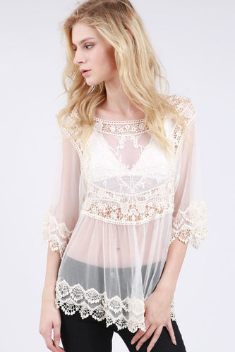 Kyra Lace Top - One Size