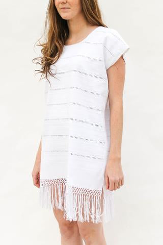 OhFox! Modern Slip Dress in White