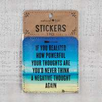Natural Life Powerful Thoughts Stickers