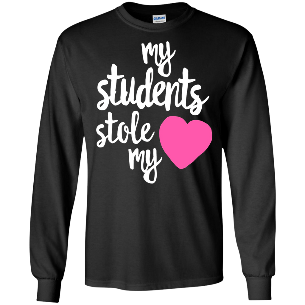 2eecb6822f8 ... My students stole my heart teacher valentine s day t-shirt - funny  couples valentine shirt ...