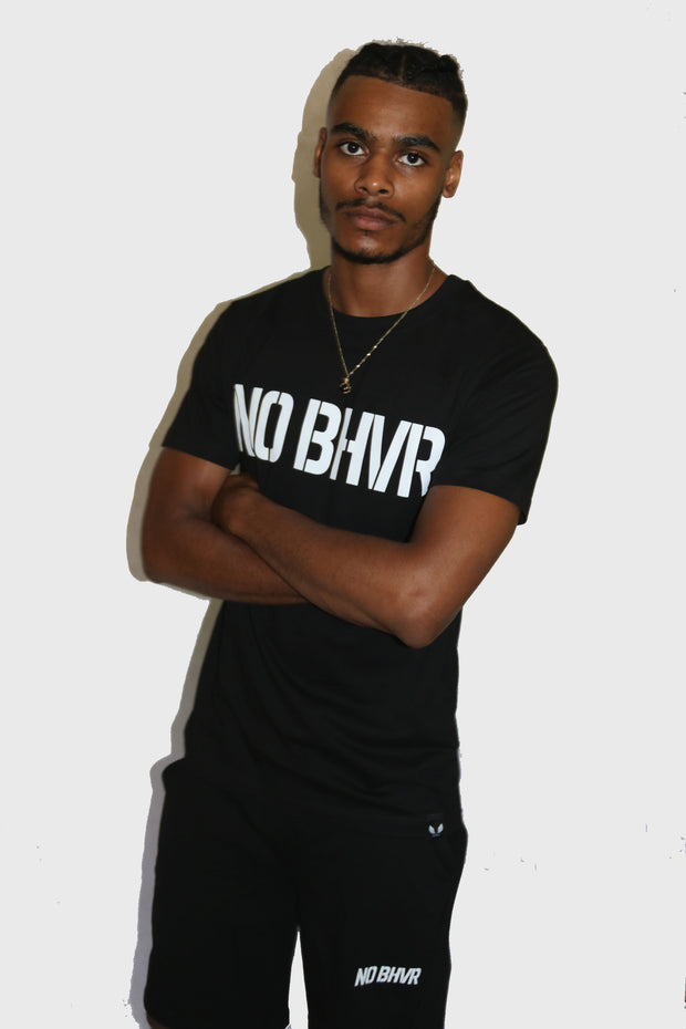 NO BHVR Large Print Tee (Black)