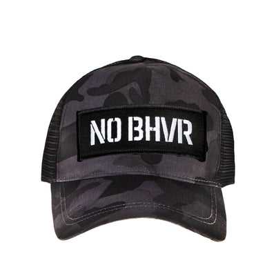 NO BHVR Badged Camo Mesh Trucker