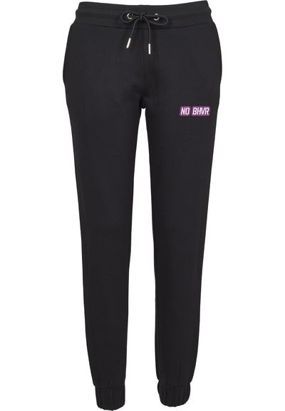 NO BHVR Purple Bubble Logo Ladies Sweat Pants (Black)