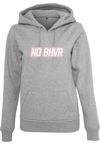 NO BHVR Pink Bubble Logo Ladies Hoodie (Grey)