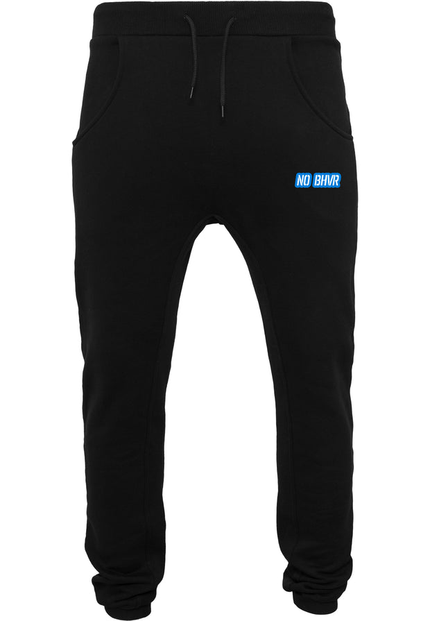 NO BHVR Blue Bubble Logo Mens Sweat Pants (Black)