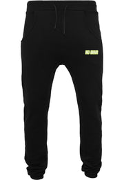 NO BHVR Green Bubble Logo Mens Sweat Pants (Black)