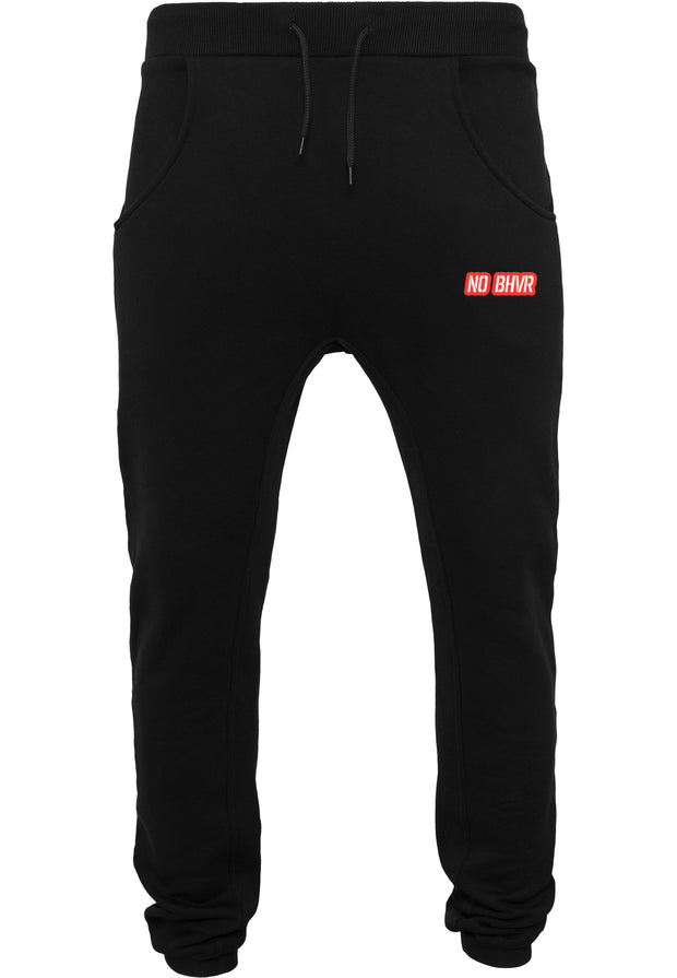 NO BHVR Red Bubble Logo Mens Sweat Pants (Black)