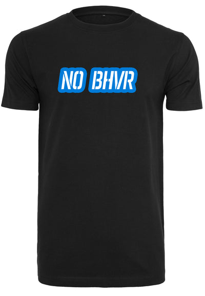 NO BHVR Blue Bubble Logo Mens Tee (Black)