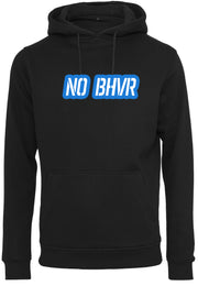 NO BHVR Blue Bubble Logo Mens Hoodie (Black)