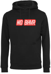 NO BHVR Red Bubble Logo Mens Hoodie (Black)