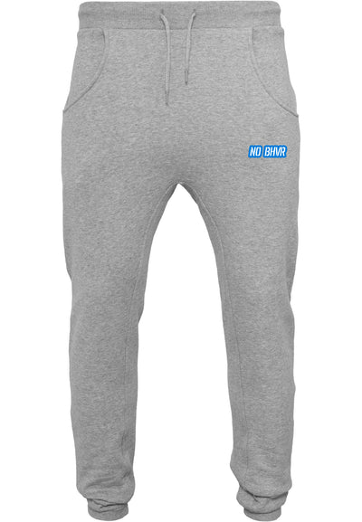 NO BHVR Blue Bubble Logo Mens Sweat Pants (Grey)