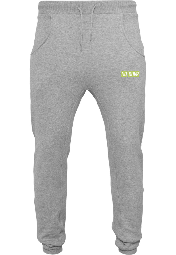 NO BHVR Green Bubble Logo Mens Sweat Pants (Grey)