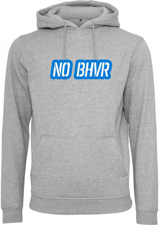 NO BHVR Blue Bubble Logo Mens Hoodie (Grey)